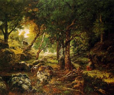 Paysage de foret Th.Rousseau